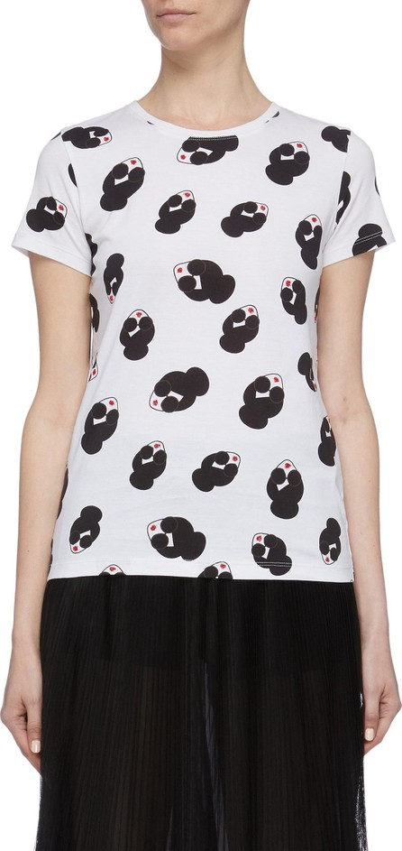 Alice + Olivia 'Rylyn' Stace Face print T-shirt