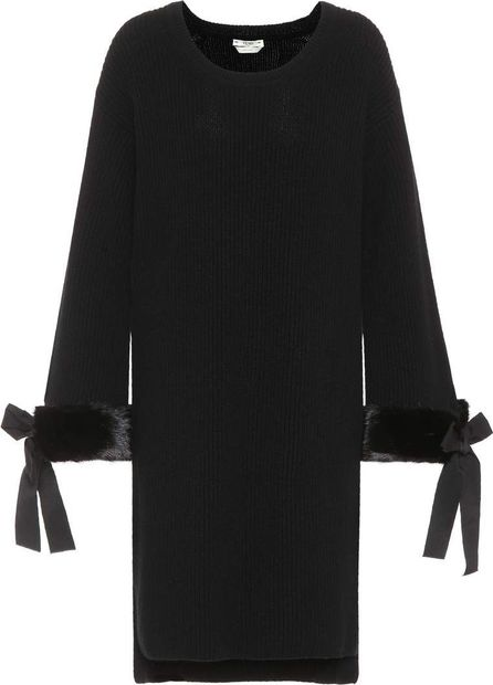 Fendi Fur-trimmed cashmere dress
