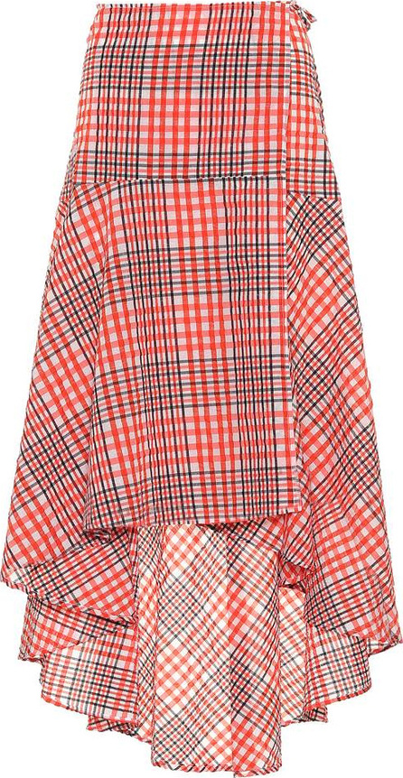 Ganni Charron cotton-blend skirt