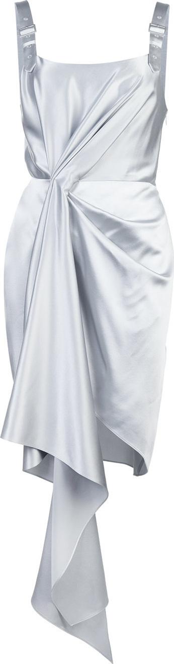 Fleur Du Mal Metallic asymmetric cascade dress