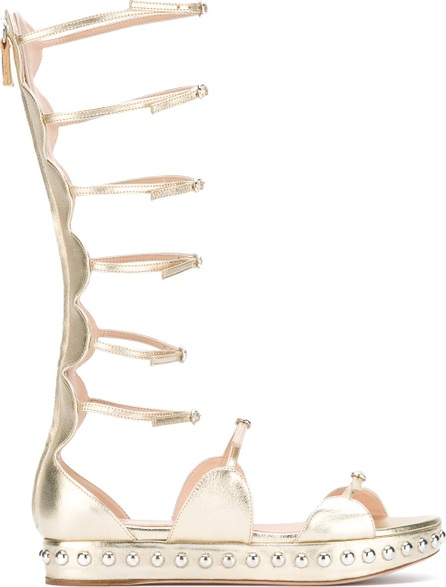 Giambattista Valli metallic strappy sandals