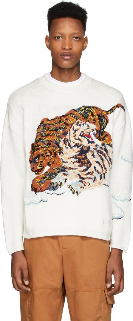 KENZO White Cloud Tigers Sweater