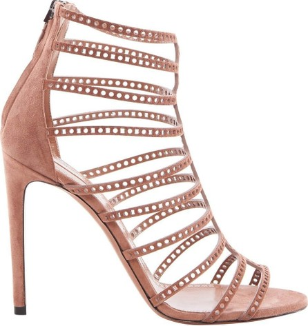 Azzedine Alaia Suede Cage Heel in 110MM