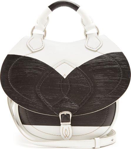 Maison Margiela Slide mini painted-panel leather cross-body bag