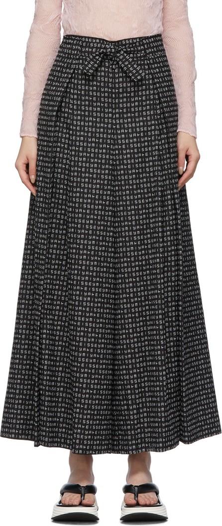 Issey Miyake Black Crossword Trousers