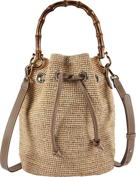 HEIDI KLEIN Savannah Bay Raffia Bamboo Mini Bucket Bag