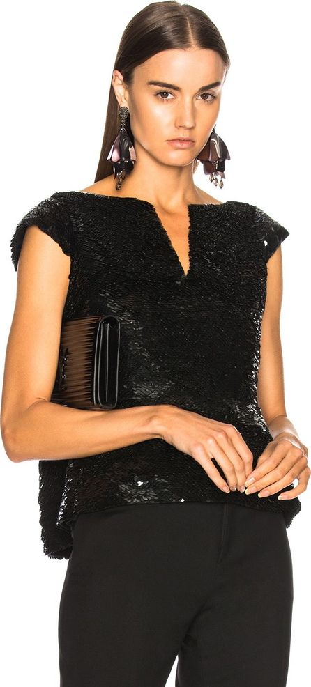 Oscar De La Renta for FWRD Sequin Peplum Top