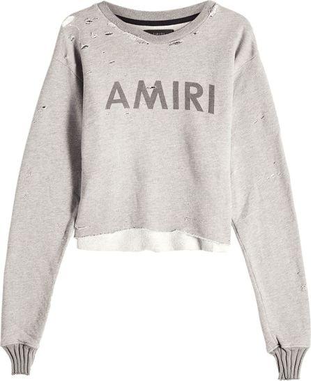 Amiri Distressed Sweatshirt with Cotton