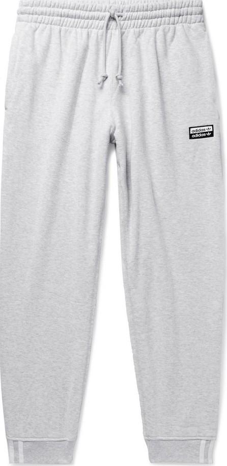 Adidas Originals R.Y.V. Tapered Logo-Appliquéd Mélange Loopback Cotton-Jersey Sweatpants
