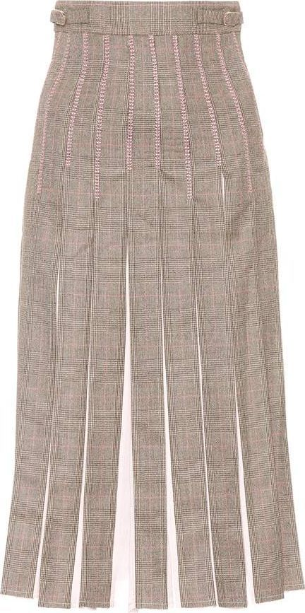 Gabriela Hearst Pleated wool and silk skirt