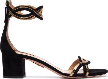 Aquazzura Moon ray 50 suede sandals