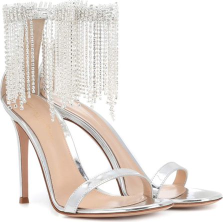 Gianvito Rossi Jasmine 105 metallic leather sandals