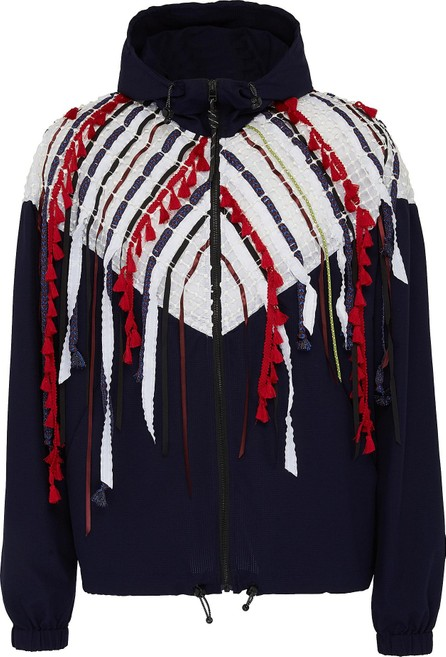 Angel Chen Mix fringe colourblock hooded unisex windbreaker jacket