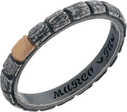 Marco Dal Maso Men's Vintage Band Ring w/ 18k Gold, Size 11