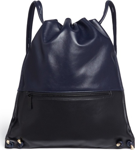 A-Esque 'Draw Pack 03' colourblock leather backpack