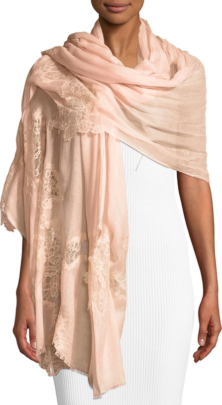 Bindya Opposite Attraction Lace-Trim Modal Stole