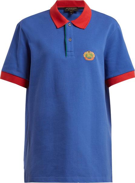 Burberry London England Contrast-collar cotton-piqué polo shirt
