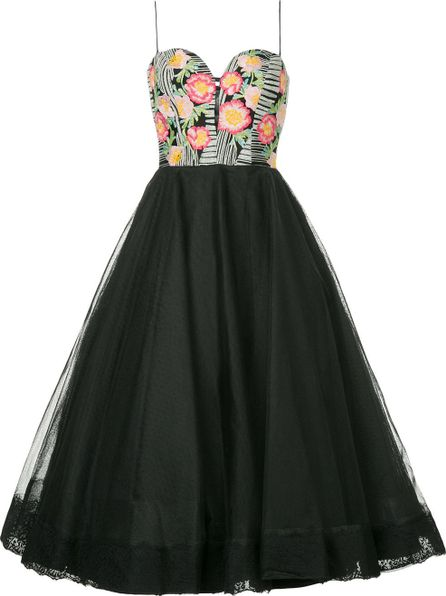 Bambah Floral detail tulle dress