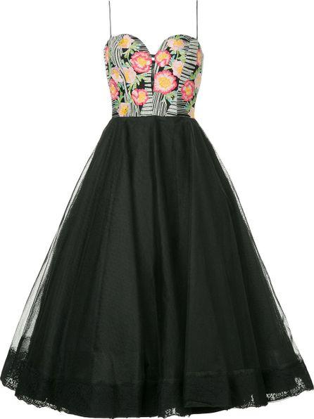 Bambah Floral detail tulle dress
