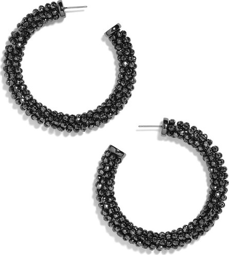 BAUBLEBAR Danasia Beaded Hoop Earrings, Black