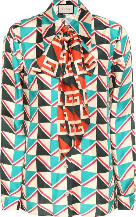 Gucci Printed silk blouse
