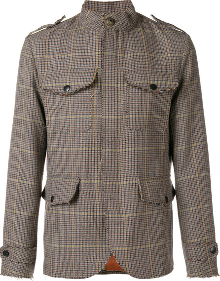 Etro Check military-style jacket