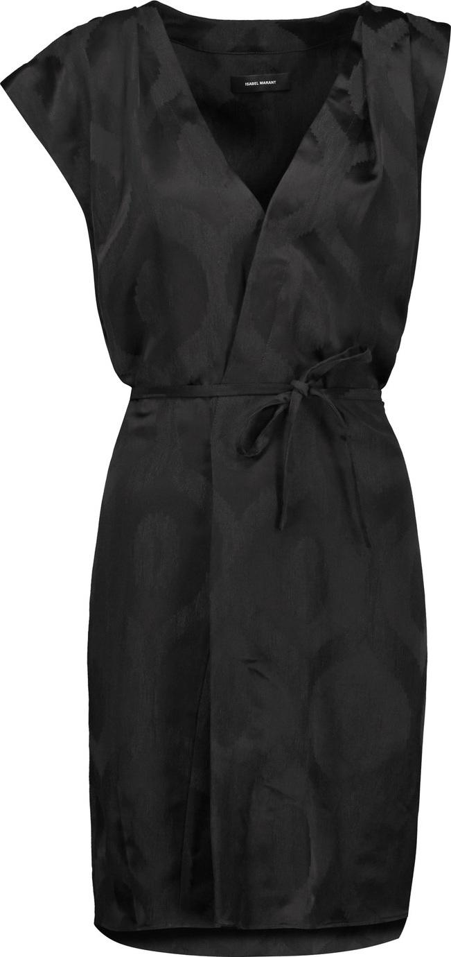 Isabel Marant - Sudley wrap-effect  satin-jacquard dress