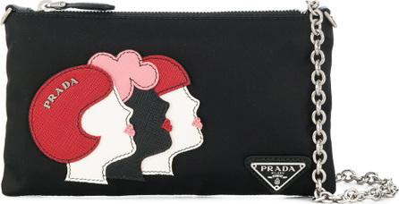 Prada Girl Faces chain wallet