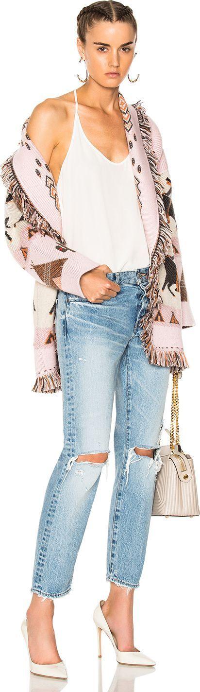 Alanui Oversized Jacquard Cashmere Cardigan