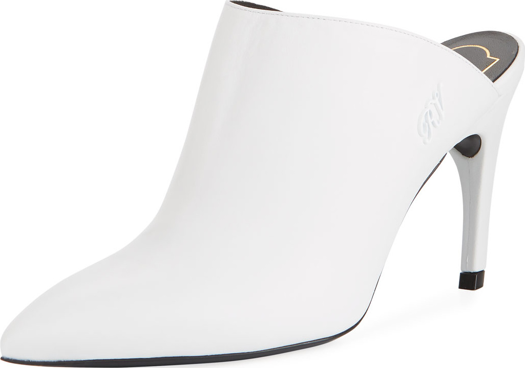 Roger Vivier - 85mm Curve-Heel Leather Mule
