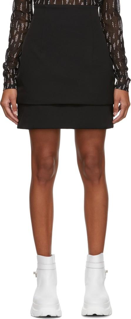 032c Black Puffered Miniskirt