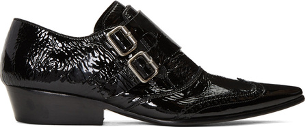 Haider Ackermann Black Monk Strap Slide Loafers