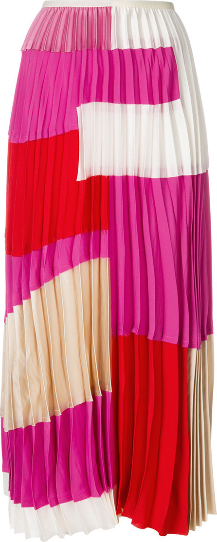 Marni Abstract pleated skirt