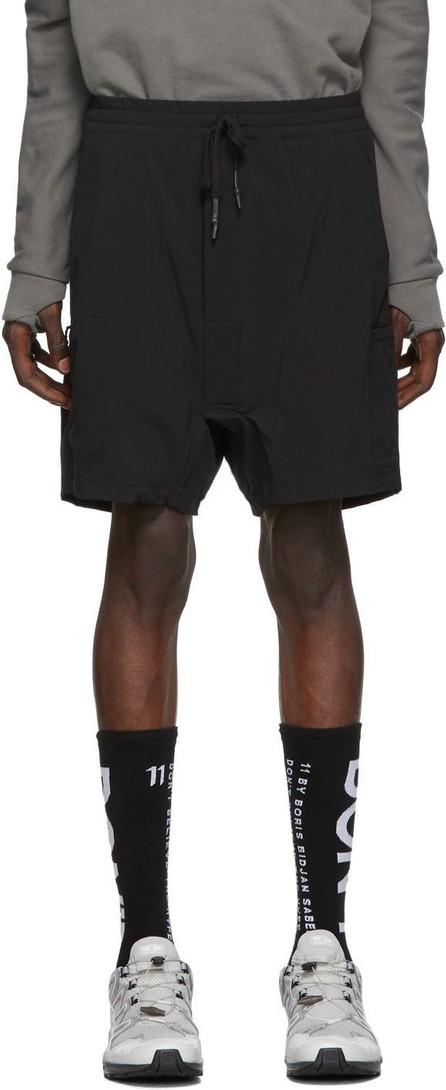 11 By Boris Bidjan Saberi Black Drawstring Shorts