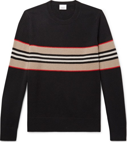 Burberry London England Striped Intarsia Cashmere Sweater