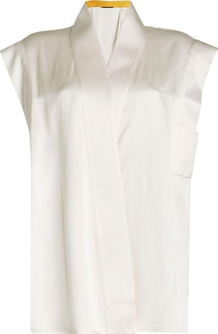 Haider Ackermann Sleeveless Kimono Top with Silk