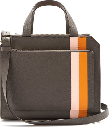 Valextra Passepartout medium striped leather bag