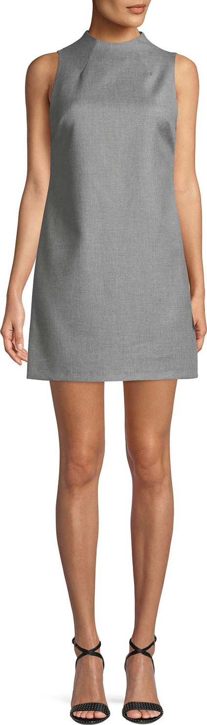 Alice + Olivia - Coley Sleeveless Mock-Neck Mini Dress