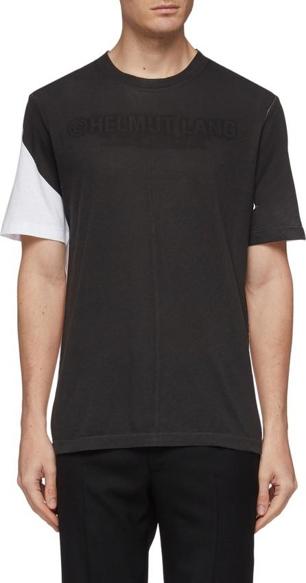 Helmut Lang Logo print colourblock T-shirt