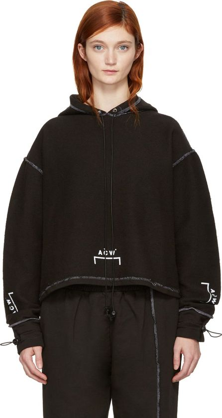 A-Cold-Wall* SSENSE Exclusive Black Shrink Wrap Corded Logo Hoodie
