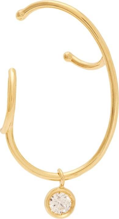 Ana Khouri Lily 18kt & dimaond gold single earring