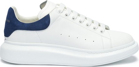 Alexander McQueen 'Oversized Sneakers' in leather with suede collar