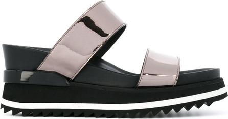 A.F.Vandevorst metallic straps platform sandals