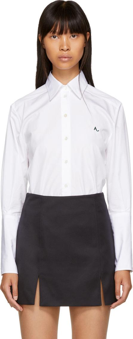 Alexachung White Deep Cuff Poplin Shirt