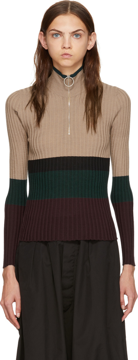 Marni Multicolor Ribbed Turtleneck