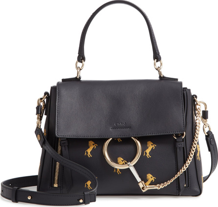 Chloe Small Faye Daye Embroidered Leather Shoulder Bag
