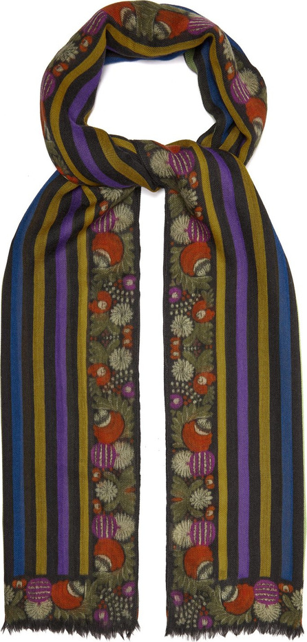 Etro Striped cashmere scarf