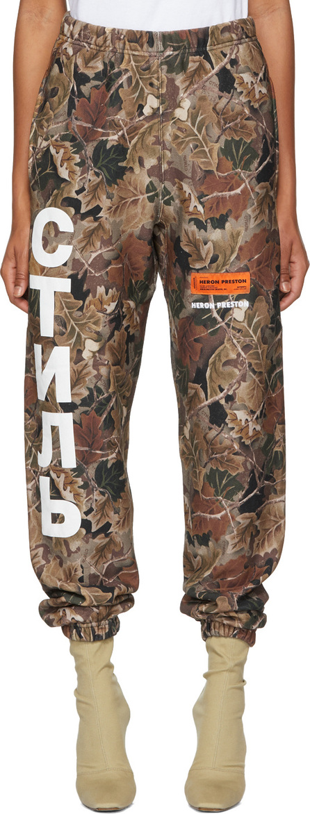 Heron Preston Brown Camo Lounge Pants