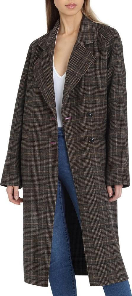 Avec Les Filles Plaid Double-Face Wool Coat