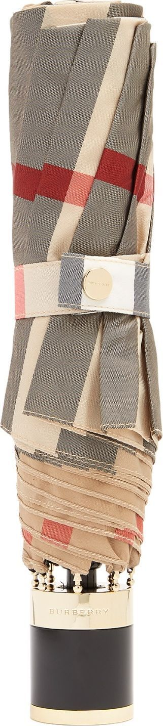 Burberry London England Trafalgar check-print folding umbrella